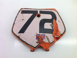 KTM 50 SX 2004 FRONT NUMBER BOARD 0078B