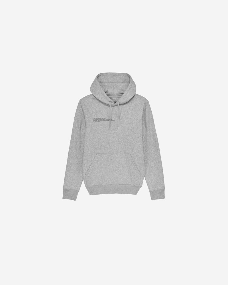 Grey Organic Cotton Message Hoodie | GOCMH