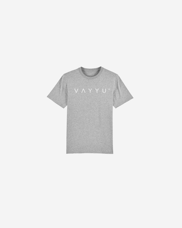 Grey Slogan Organic Cotton T-shirt | GSOCT