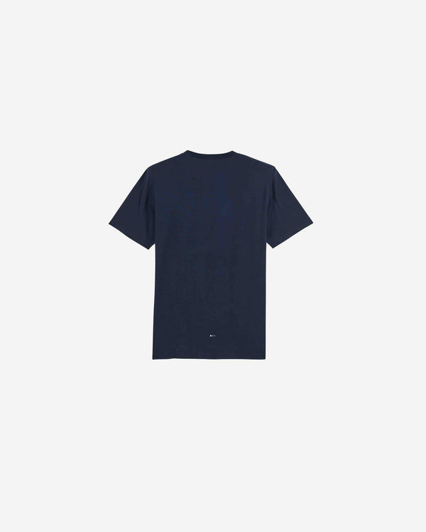 Navy Slogan Organic Cotton T-shirt | NSOCT