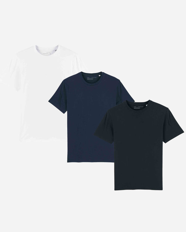Mens Organic Everyday Luxury Essential T-Shirt Pack x3 | MWNBOELE