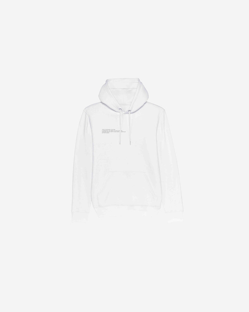 White Organic Cotton Message Hoodie | WOCMH