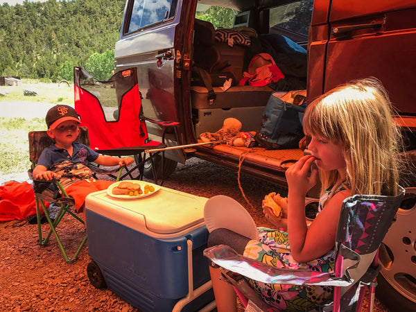 wyoming camping lunch go slo wyo vw vanagon