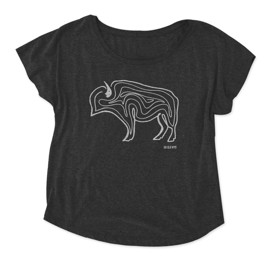 WYO // Gals Buffalo Squiggle Flow Tee