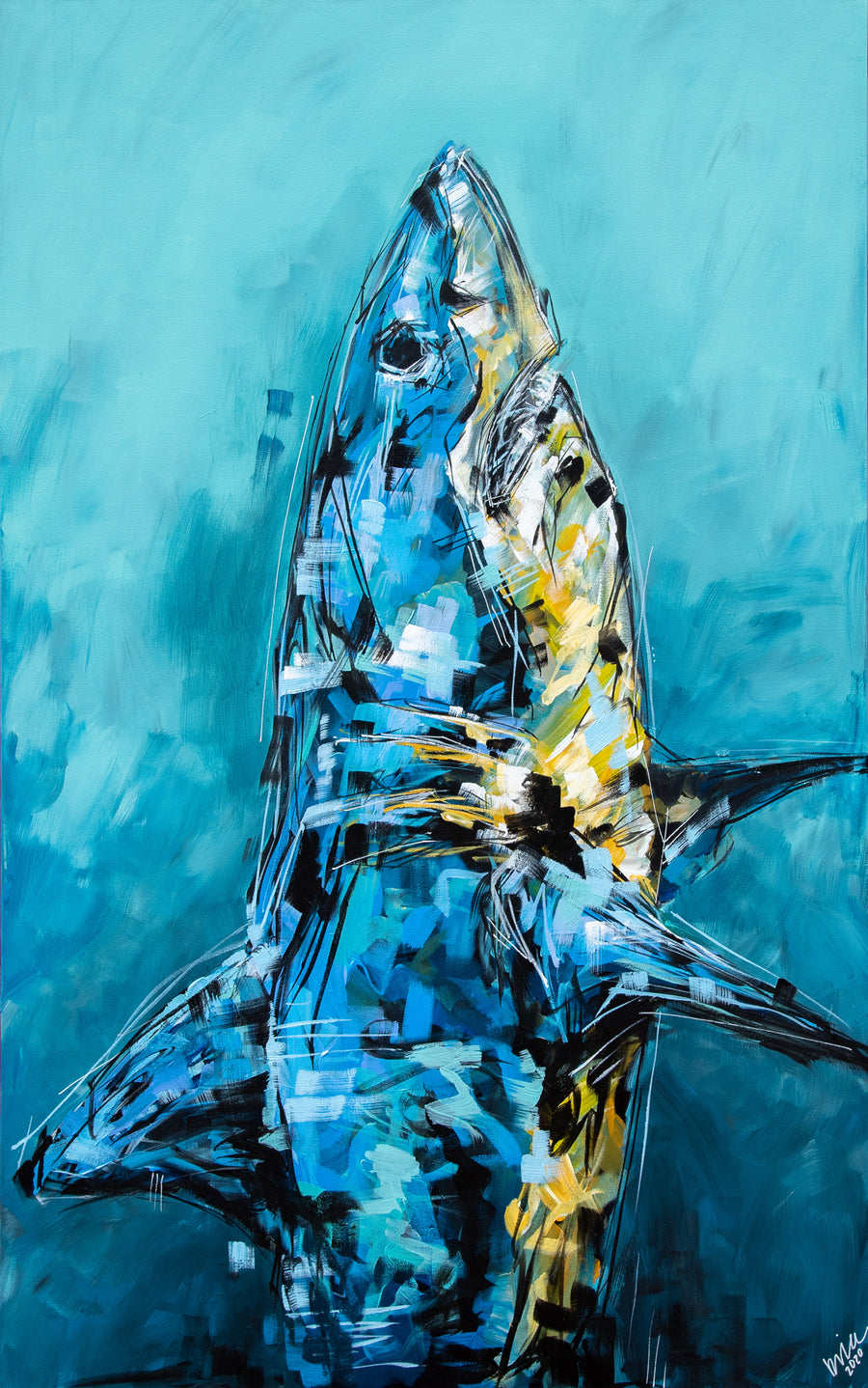 Bruce the Shark Original Painting