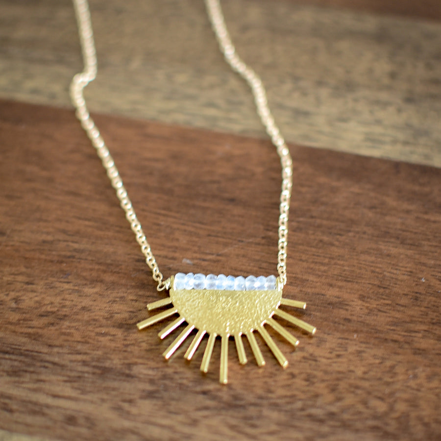 Sun Rise Necklace // Moonstone