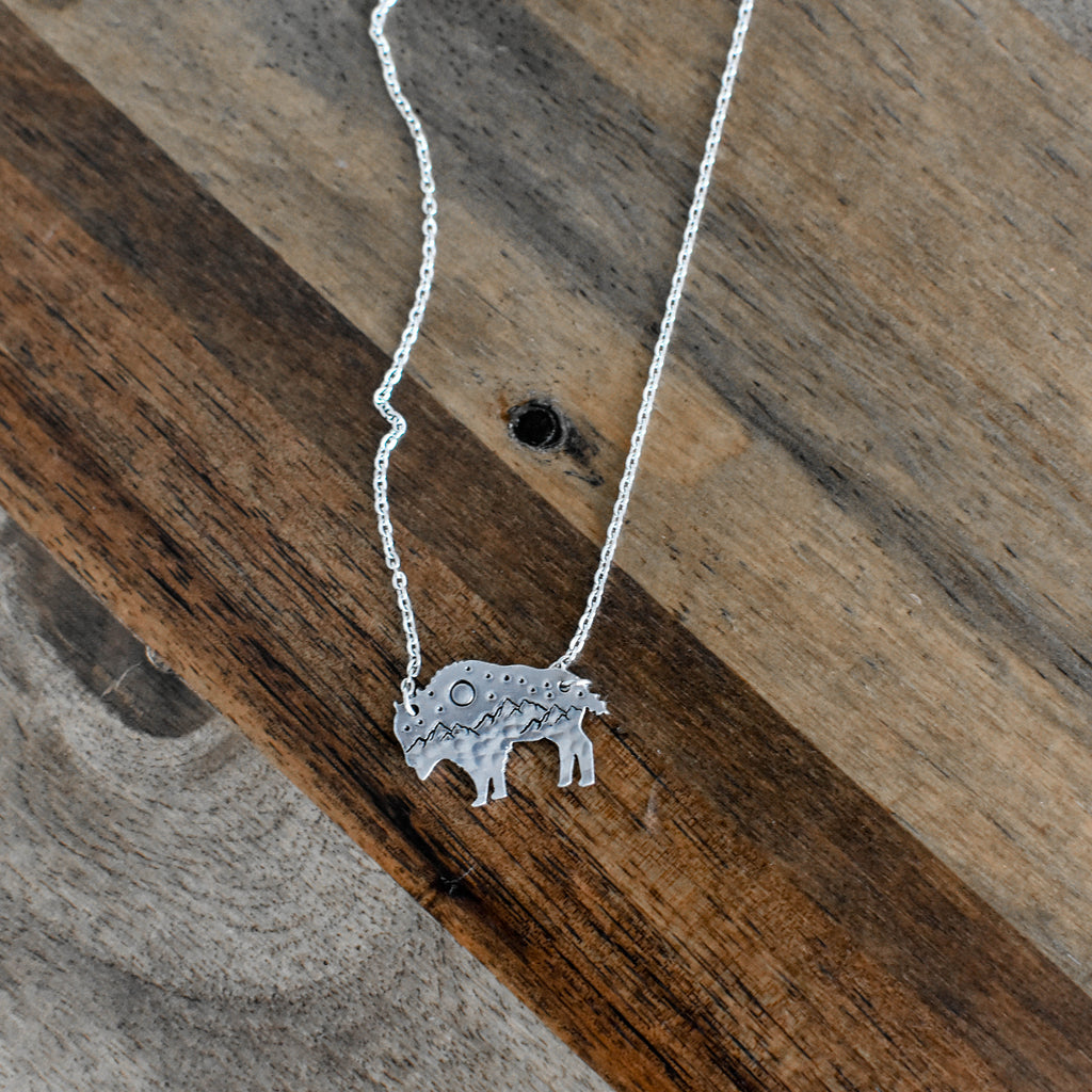 Outdoorsy Bison Necklace