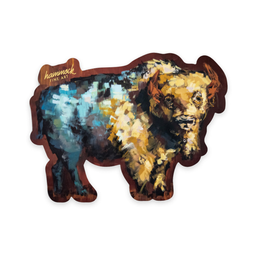 Finn the Bison Sticker