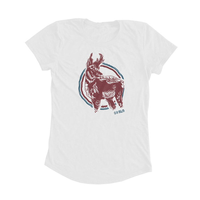 GALS WYOMING PRONGHORN FIT TEE