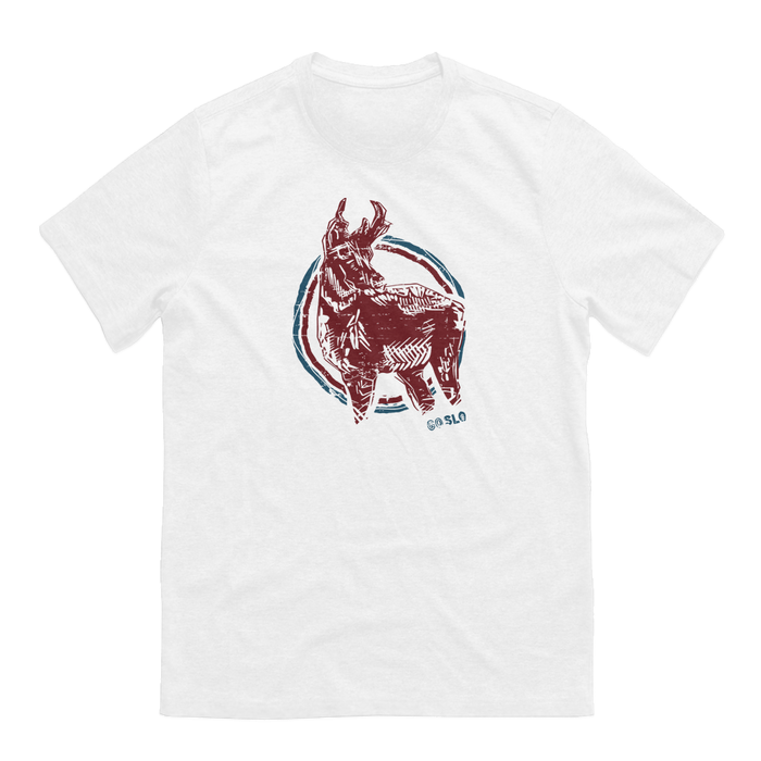 GUYS PRONGHORN TEE // WHITE