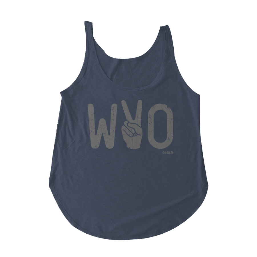 Gals Metallic Wyo Victory Scoop Tank