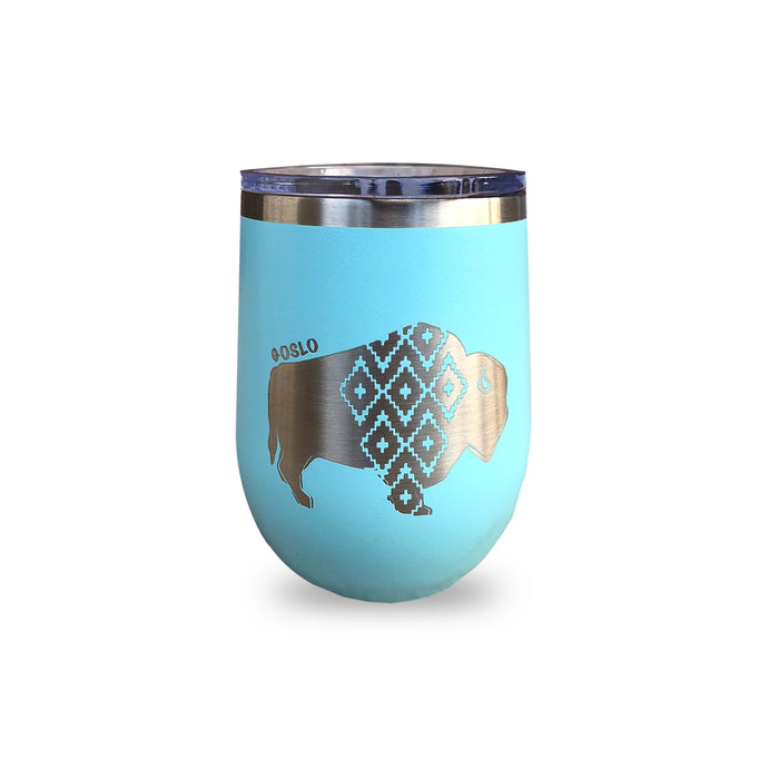 Geo Bison Insulated Wine Tumbler - 12oz