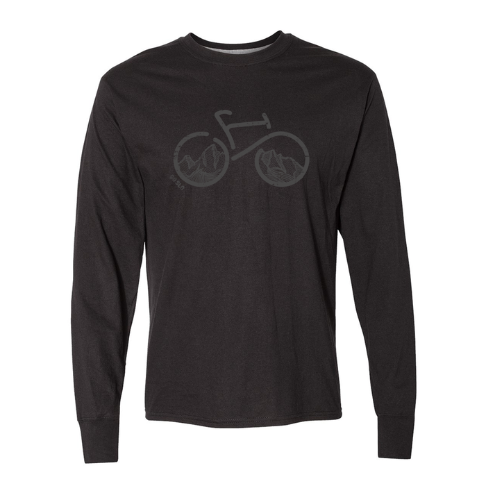 GUYS BIKE THE TETONS UPF LONG SLEEVE TEE