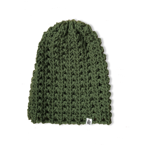 Military Green Slouch Knit Cap