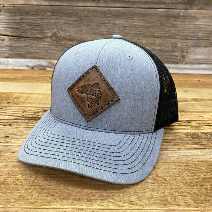 Leather Fish Trucker Hat