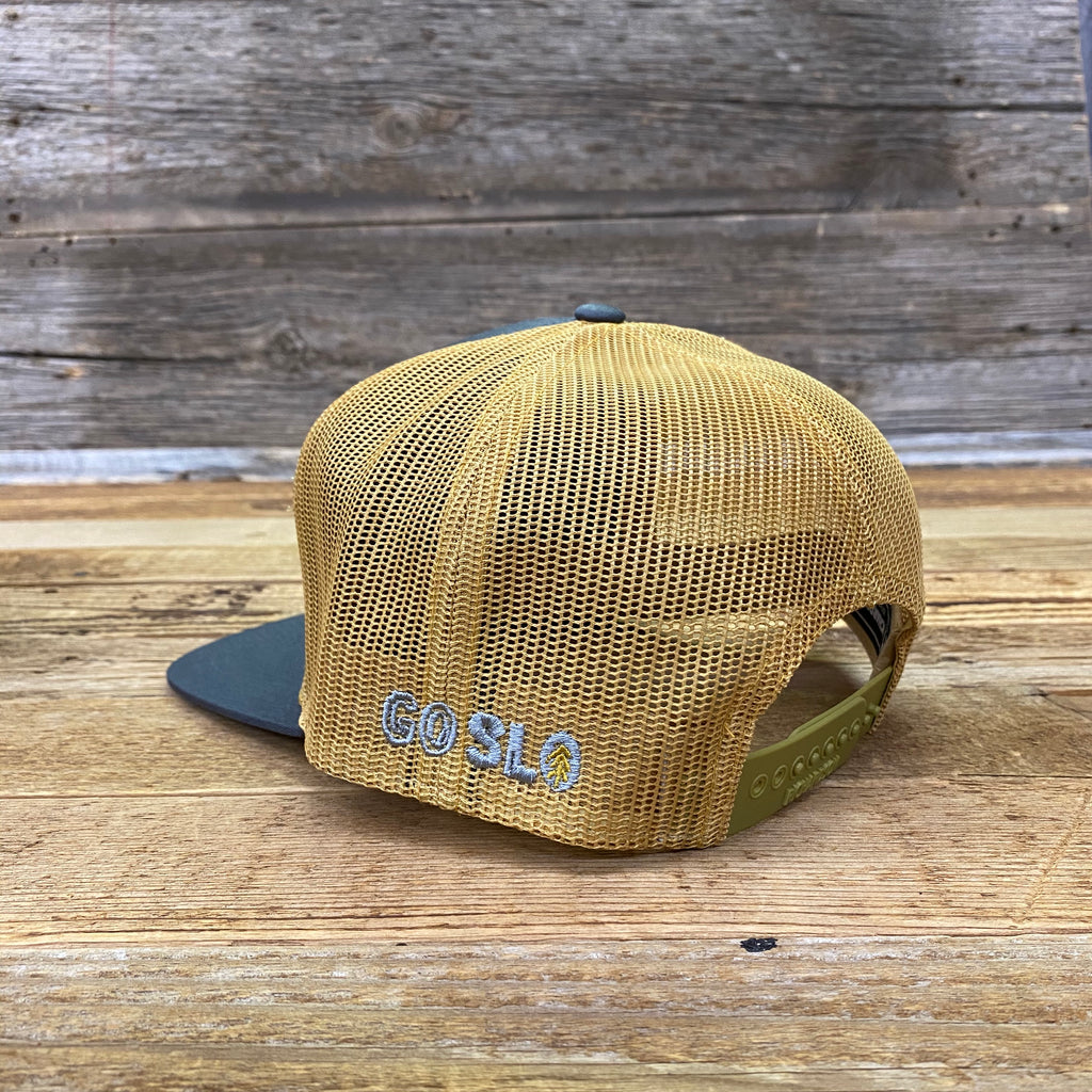 7 Panel Sunset Buffalo Trucker Cap