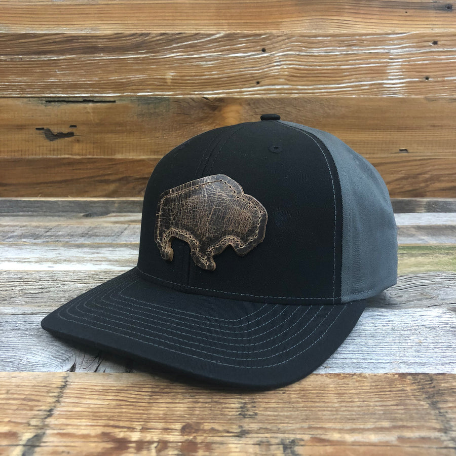 Leather Bison Twill Back Cap