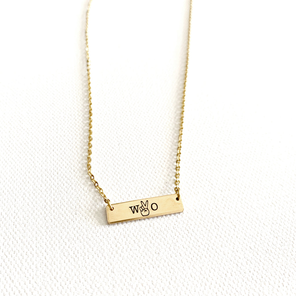 Wyo Victory Bar Necklace