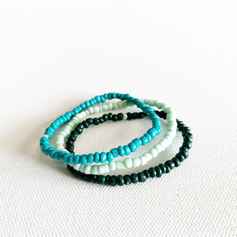 Big Sky Ombre Stretchy Trio Bracelets