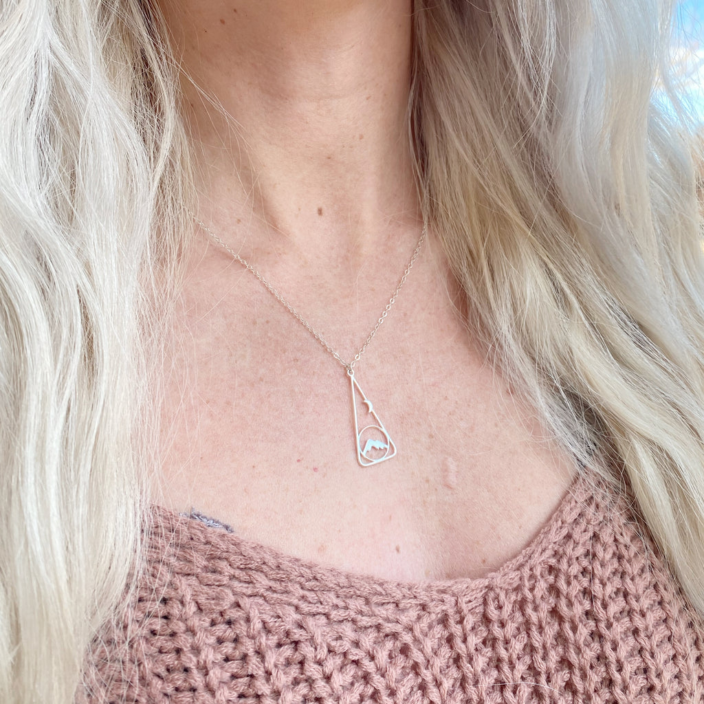 Moonrise + Mountains Necklace