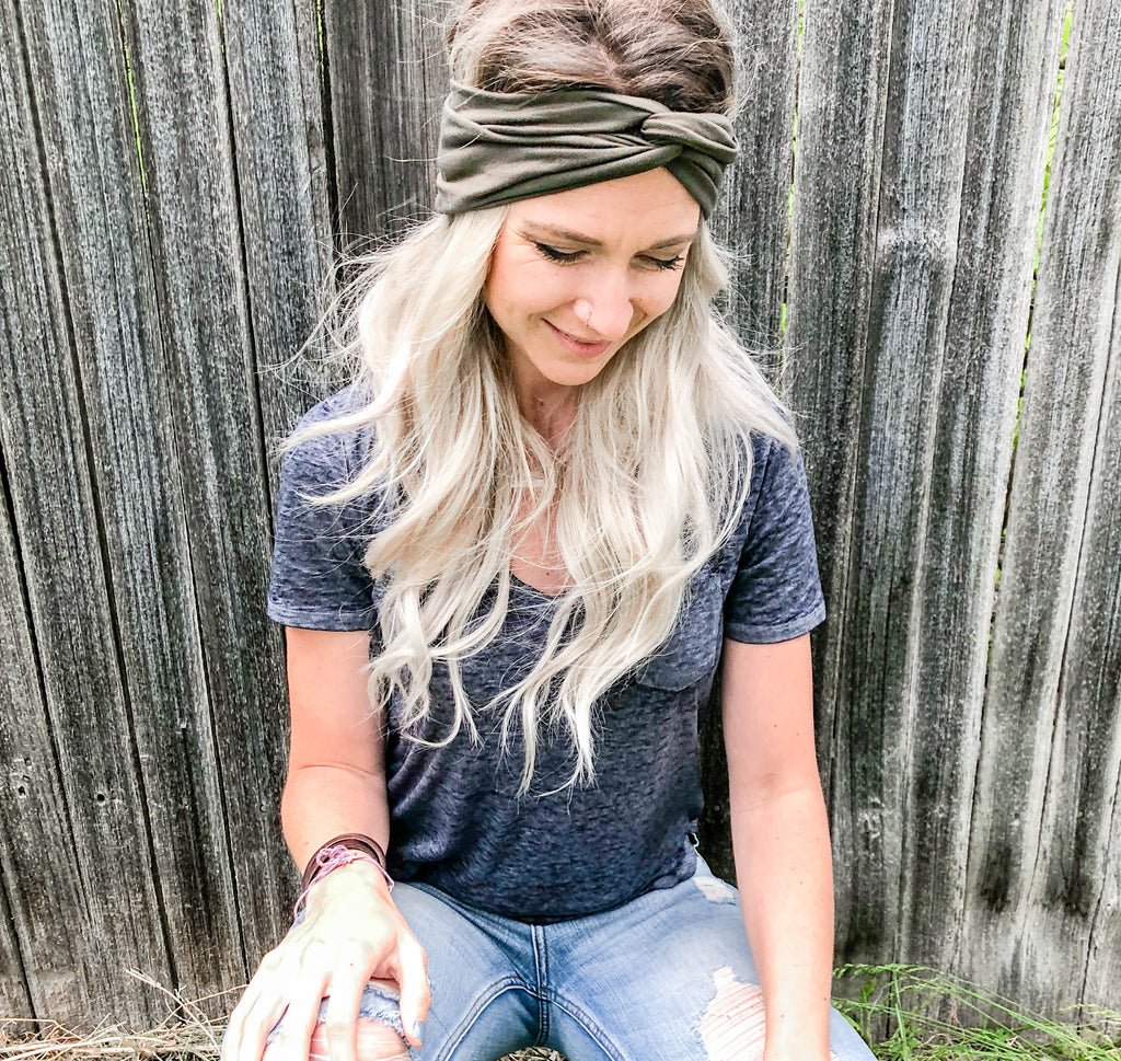 Quad-Wrap Headband // Military