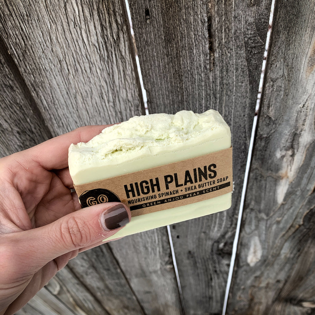 High Plains Pear, Spinach + Shea Butter Soap