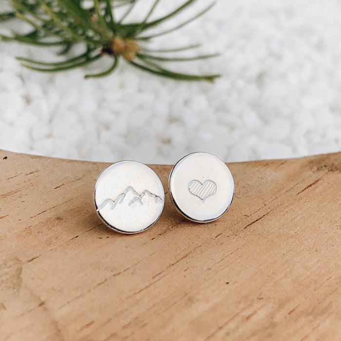 Mountain Love Earrings // SILVER