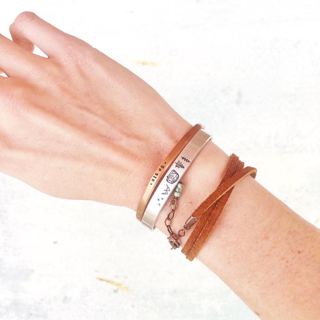 Prairie Leather Wrap // Turq + Copper