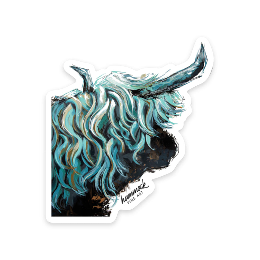 Maude the Highland Sticker