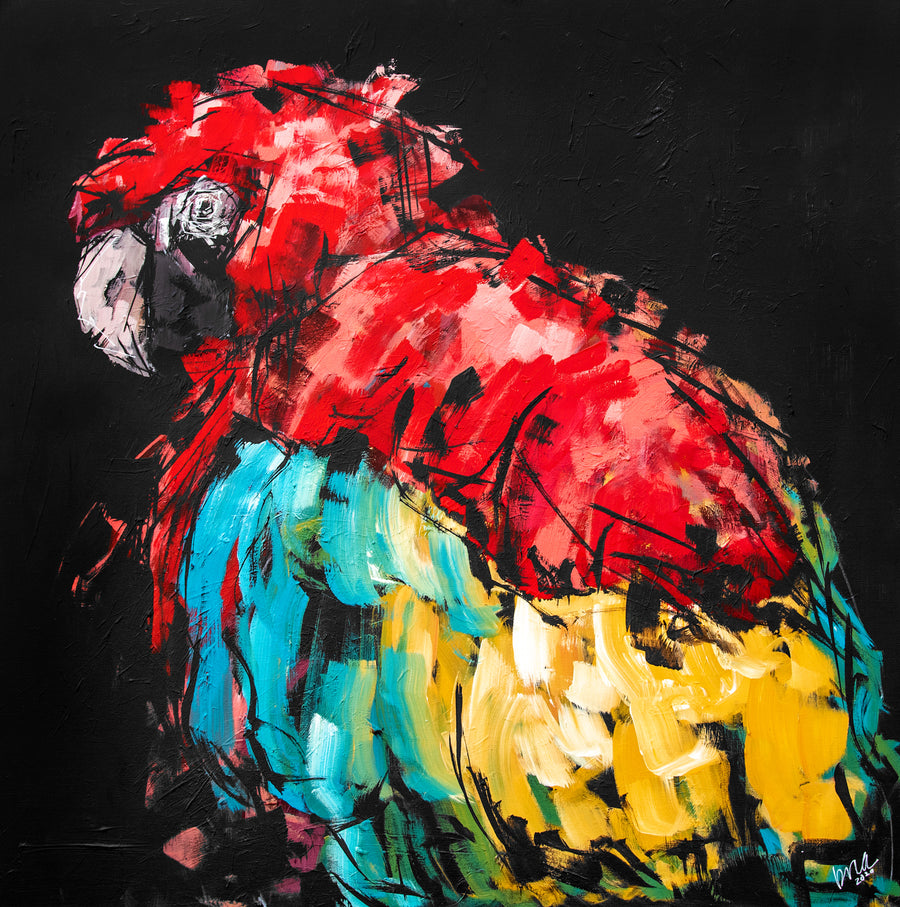 Rico the Macaw Original Painting