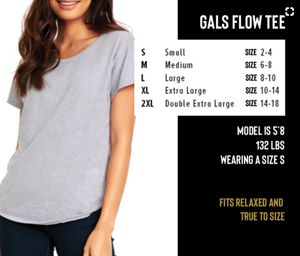 Gals Metallic Hippie Howdy Flow Tee