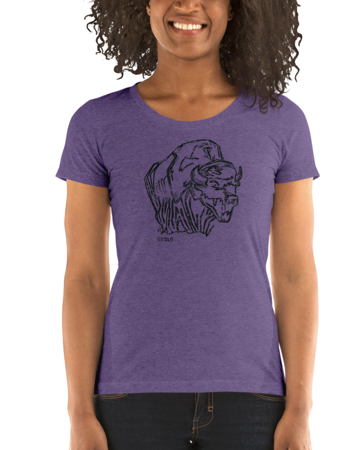 Gals Illustrated Bison Fit Tee