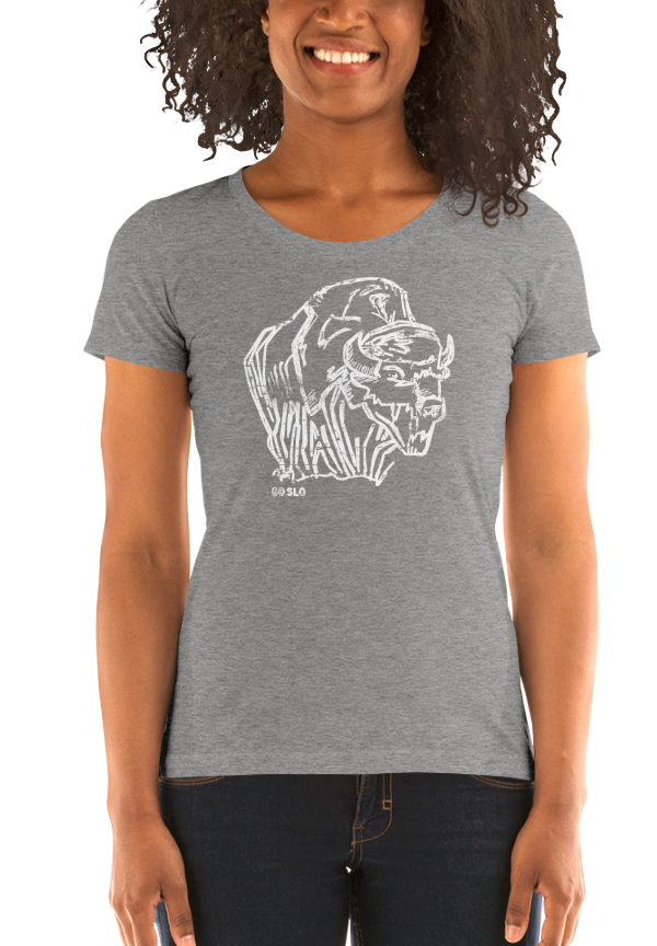 Gals Illustrated Bison Fit Tee // Grey