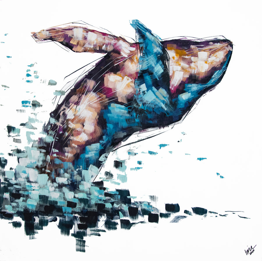 Violet the Humpback Original Painting