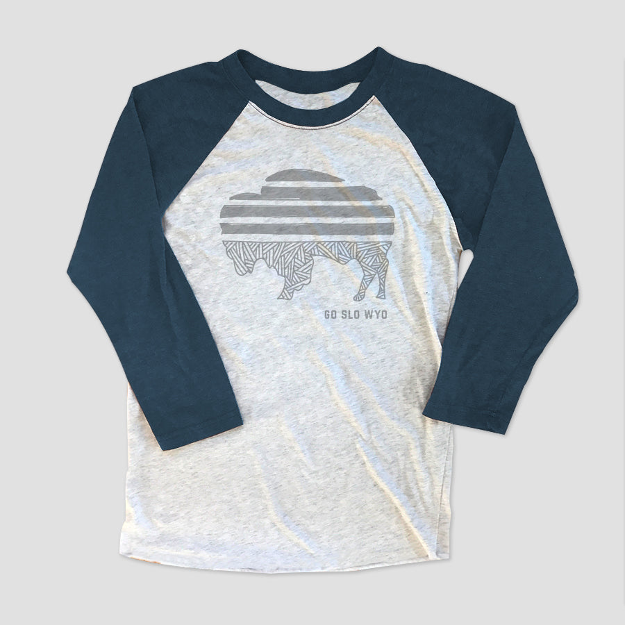 Ladies' Relaxed Buffalo Stripe Baseball Tee