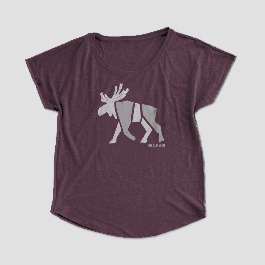 Ladies' Block Moose Flow Tee