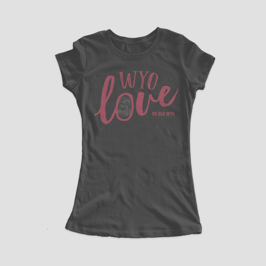Ladies' Wyo Love Fit Tee // Grey