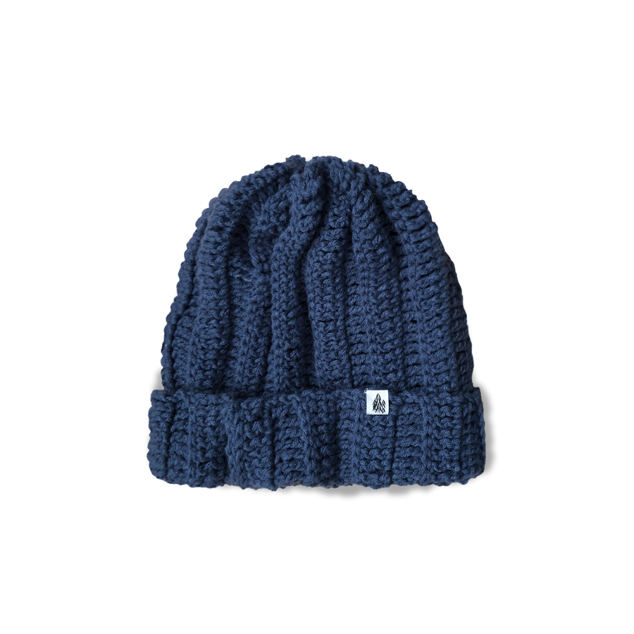 Blue Cuffed Knit Cap