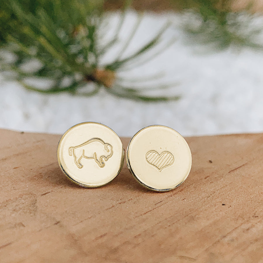 Bison Love Earrings // GOLD