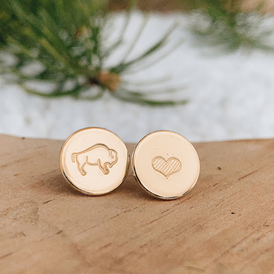 Bison Love Earrings // COPPER