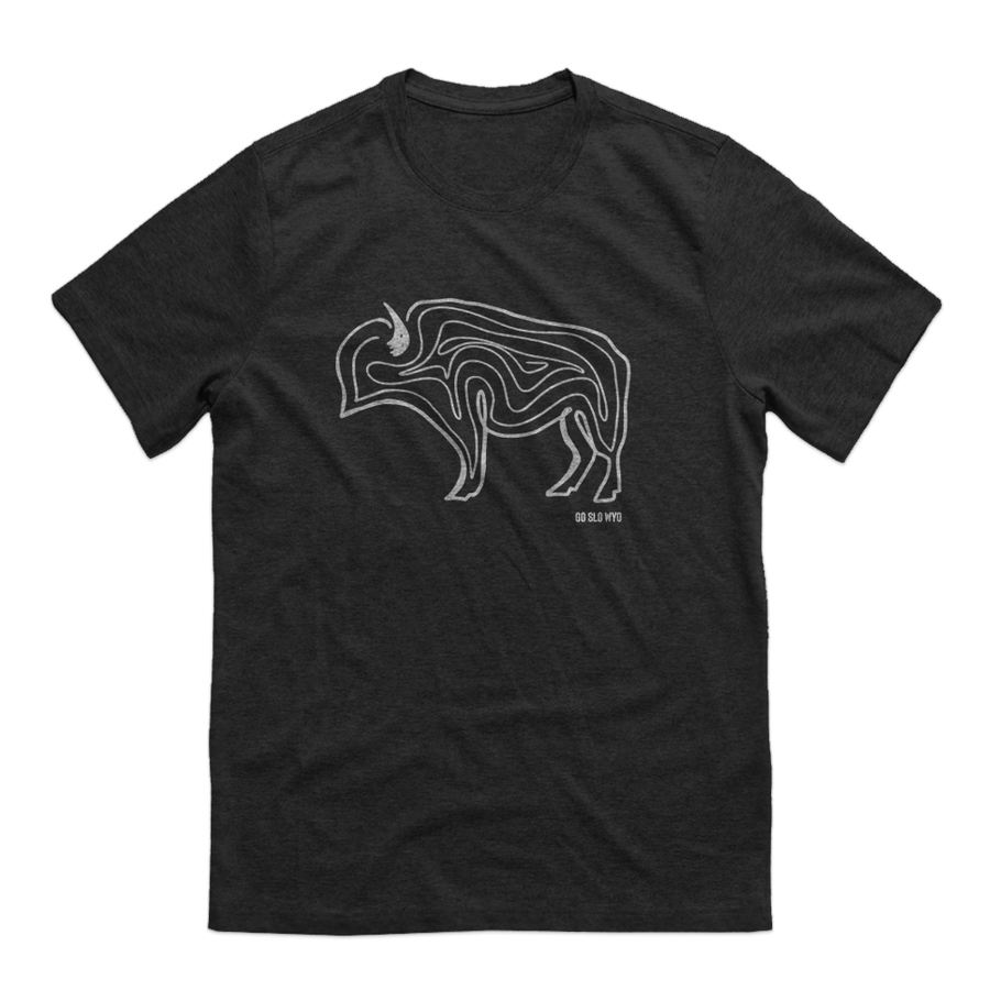 WYO // Guys Buffalo Squiggle Tee