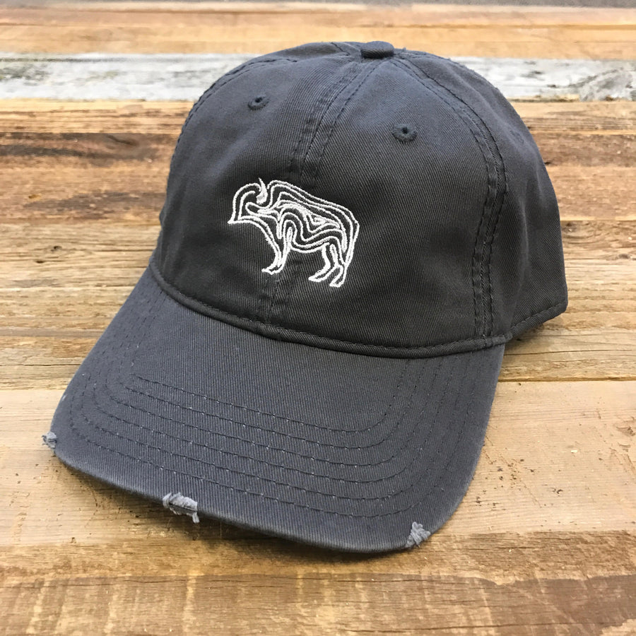 WYO // Buffalo Squiggle Dad Cap