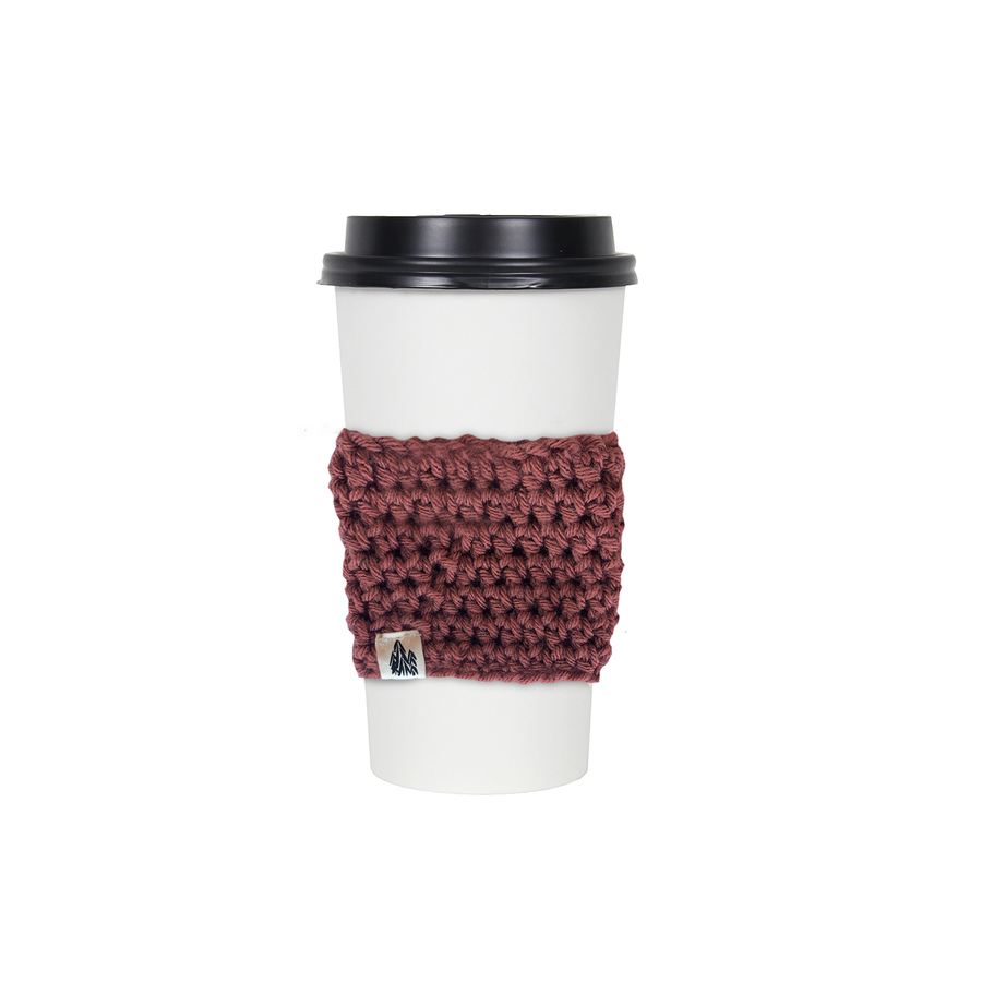 Crimson Knit Coffee Sleeve