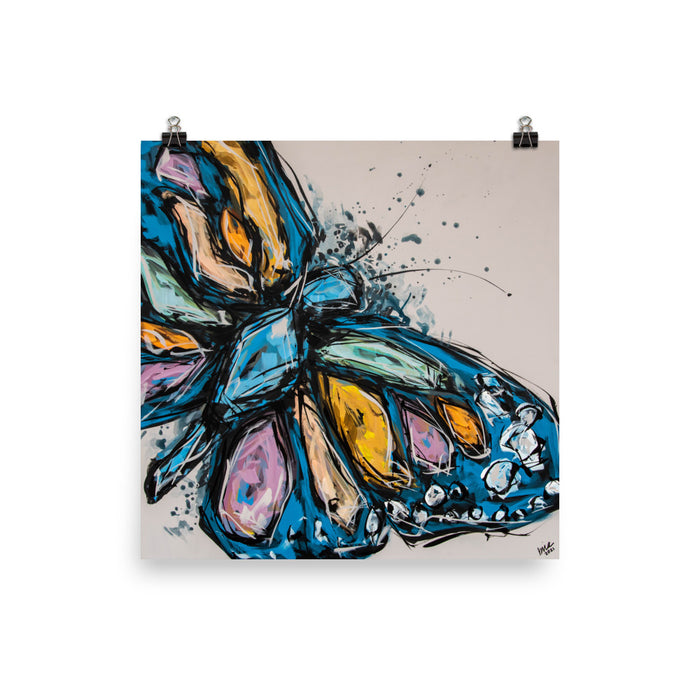 Chase the Butterfly Print
