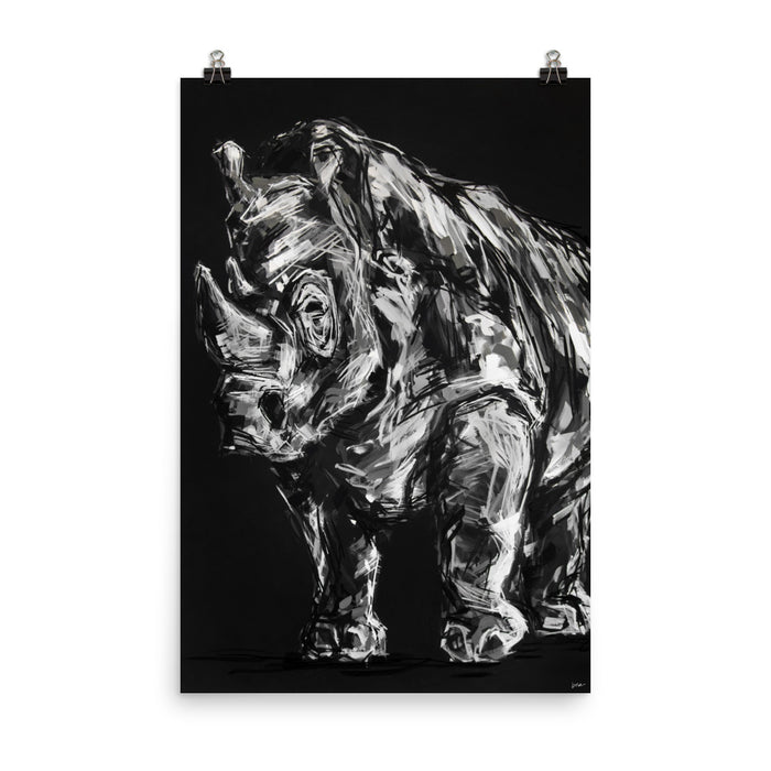 Reginald the Rhino Print