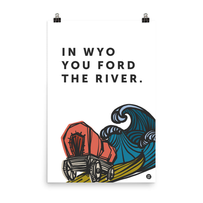 Modern Ford the River Poster Print