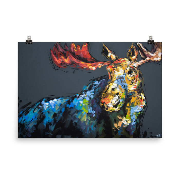 Marty the Moose Print