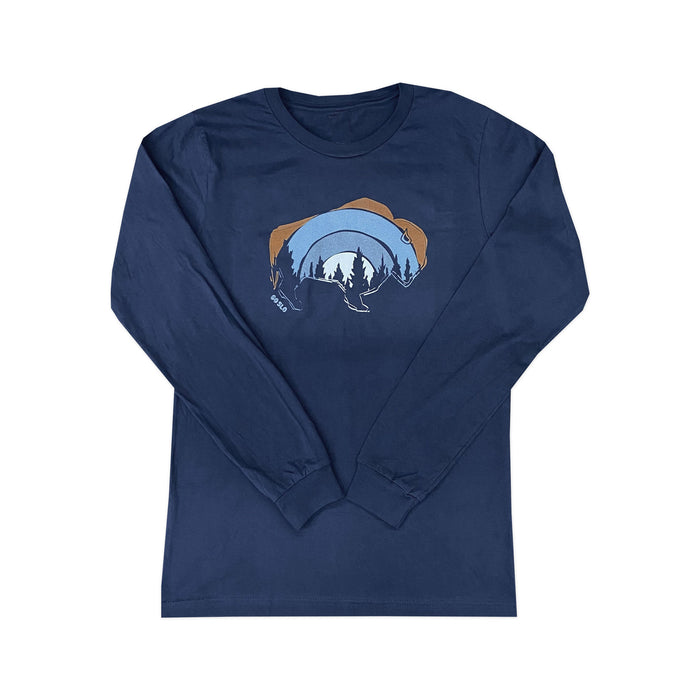 GUYS FOREST BISON LONG SLEEVE TEE