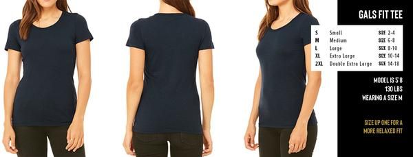 GALS METALLIC GEO BISON FIT TEE