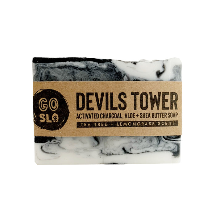 Devils Tower Activated Charcoal, Aloe + Shea Butter Soap